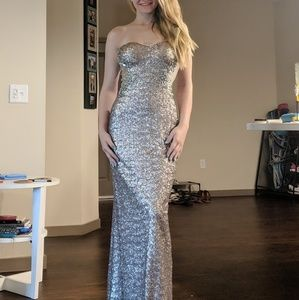 Long Silver Gown